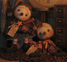 PATTERN Primitive Santa Snowman Dolls BOY & Girl Christmas Snowmen Dolls