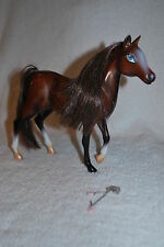 "BROWN HORSE BROWN MANE 8"" HIGH TM & MGA BRATZ BARBIE DOLLS TOY equestrian"