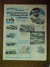 1965 Monogram~Li'l Coffin~Ferrari 275~250 GTO~Porsche SLOT CAR MODEL KITS Ad