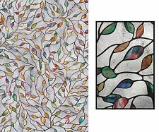 **NEW** Artscape Decorative New Leaf Wall Mural, Stained Glass Window / Privacy