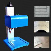 Pneumatic Dot Peen Marking Machine 250 x 150mm Metal Parts Print 110V 220V