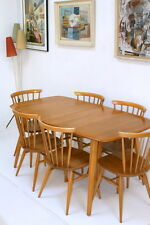Vintage Ercol Grand Windsor Table. Elm Wood Fully Restored Mint Condition. Retro