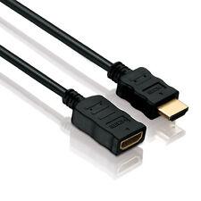 HDMI Verlängerungskabel Kabel Verlängerung FULL HD 3D 4K vergoldet 2,0m 2m