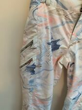 Obermeyer womens Harlow Pant ,size 8 Geode Print Insulated 15081