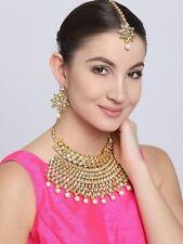 Bollywood Indian Jewelry Jodha Akbar Kundan Bridal Wedding Necklace Set 4 Pcs