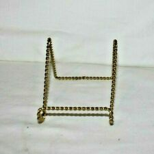 """3"""" Wire Twisted Brass Finish Display Easel"""