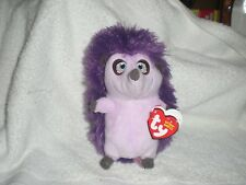 "TY Beanie Baby 6"" UNA Hedgehog (Ferdinand) Plush Stuffed Animal w/ Ty Heart Tags"