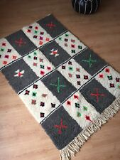 Moroccan Luxurious Handwoven / Hand Loomed Beni Ourain Rug 100 Wool Ivory
