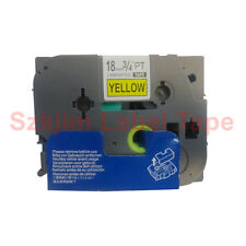 TZ-S641 Stick Black on Yellow Label Tape 18mm 8m Compatible for Brother TZe-S641