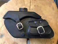 Satteltaschen Set RETRO BLACK Koffer Harley Davidson Echtleder Seitentasche 24L
