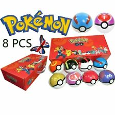 8Pcs Pokemon Ball Set Pokeball GO Action Figures Christmas Kids Toys Child Gifts
