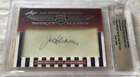 Jack Kramer 2010 Leaf Sports Icons Upd Cut Signature autographed signed card 1/1