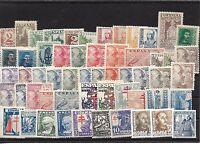 España. Conjunto de 55 sellos nuevos y diferentes del Estado Español