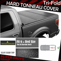 """Lock Hard Solid Tri-Fold Tonneau Cover For 1983-2011 Ford Ranger 6' FT (72"""") Bed"""