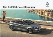 Prospekt / Brochure VW Golf Cabriolet Karmann 05/2015