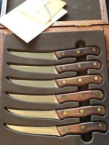Vintage Chicago Cutlery Steak Knife Set 103S Set Of 6 in wood Case