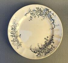 Ancienne assiette porcelaine Rocroy Longchamp cuisine vintage french antique