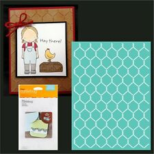 Cuttlebug Embossing folders - Chicken Wire embossing folder 2002781 5x7 New