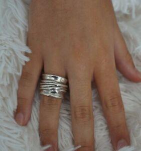 "NWT UNO de 50 Men Women Unisex Silver ""The Tribe"" Band Ring 6 S 7 7.5 L 8.5 XL"