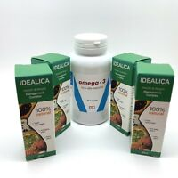 SET especial 4 x 20ml. IDEALICA  gotas + 60 cápsulas de OMEGA-3 como un regalo!