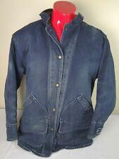 New listing Vintage Woolrich Womens Size Large Denim Wool Blanket Lined Field Barn Jacket