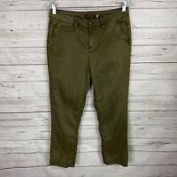 Gramicci Womens Cropped Pants Size 4 Green Tencel Cotton Blend