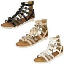 Zip Wedge Gladiator Sandals & Flip Flops for Women