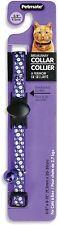 Petmate Delicious Fashion Violet Purple Flowers Cat 8-12 Breakaway Collar Flower