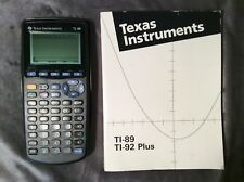 Texas Instruments Black TI-89 Scientific Calculator Manual Book Case Fresh Batt