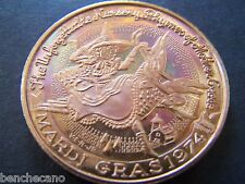 1974 Choctaw NURSERY RHYMES OF MOTHER GOOSE Copper Hi-Relief Mardi Gras Doubloon