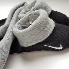 Nike Newborn Hat & Booties 0-6 Months Black w Grey Trim Light Grey Swoosh