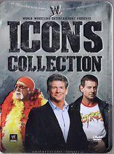 WWE Icons Collections Tin Box Set (8 Discs DVD) Hulk Hogan, Roddy Piper, ...