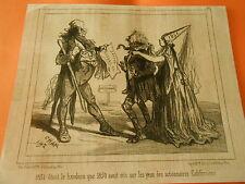 Litho 1851 Otant le bandeau sur les yeux des actionnaires Californiens