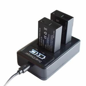 2X Battery + Dual Charger for EN-EL20 EN-EL20a Nikon Coolpix P950 P1000 Camera
