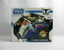 NEW 2008 Star Wars ✧ V-19 Torrent Starfighter ✧ Clone Wars Vehicle MISB