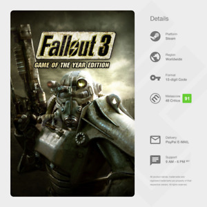 Fallout 3: Game of the Year Edition GOTY (PC) - Steam Key [GLOBAL]