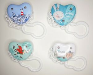 LOVI Baby dummy clip soother holder Pacifier soother chain strap free BPA Mix