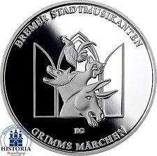 Deutschland 20 Euro Silbermünze 2017 PP Grimms- Bremer Stadtmusikanten im Folder