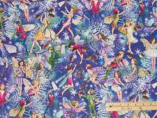 Enchanted Fairy Fairies Michael Miller Christmas Fabric  by the 1/2 Yard #DM7049