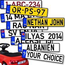 Aufkleber Nummernschild Wunschtext Bobby Go Kett B NL GB DK N S PL CH TR usw.