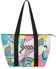 NEW Nylon Insulated Lunch Tote Bag Bento Box Cooler Geometric Colorway Pattern
