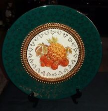 VINTAGE HAND MADE FLORENTINE DISPLAY/CABINET PLATE, FRUITS DESIGN,  ITALY