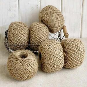 50 Yds Natural Jute Hessian Rope Burlap Rustic Cord String Craft Wedding Decor