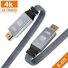 Snowkids 4K UHD HDMI Cable 6.6 ft  High Speed 18Gbps 2.0 Cable TV Monitor Laptop