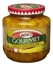 Bick's Gourmet Sweet Corn Relish 4 x 375ml Canadian