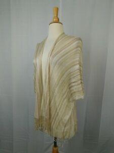 Collection XIIX Tassel Kimono Wrap, Swim Cover-Up - Camel Beige - One Size #5586