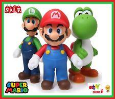 3PC Super Mario Bros 12CM Large Figure Luigi Yoshi Figurine Kart Toy Cake Topper