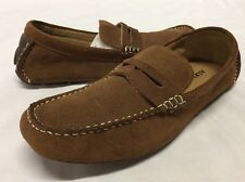 ALFANI  TIGGER Men's Driving Loafers Shoes, Brown Leather, Size 8 M