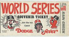 "1968 Detroit Tigers World Series Souvenir Ticket Sticker  ""The Dodge Boys"""