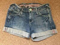 Girls Zara Kids Blue Denim Shorts Age 9-10 Years Summer Beach Holiday B69